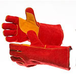 MIG Welding Red Double Palmed Gauntlet Glove